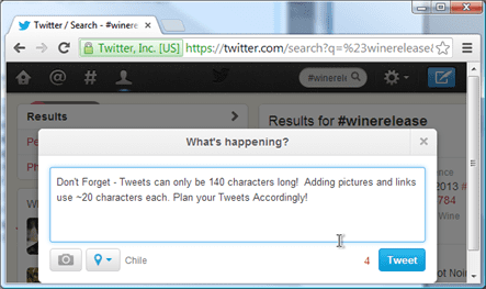 Twitter Marketing For Wineries Screen Shot