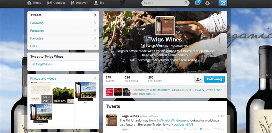 twigs social media