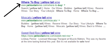 wine search on website