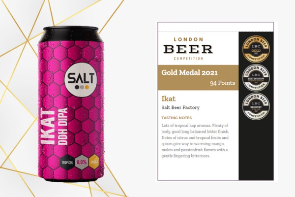 Ikat, double IPA made by Salt Beer Factory, United Kingdom