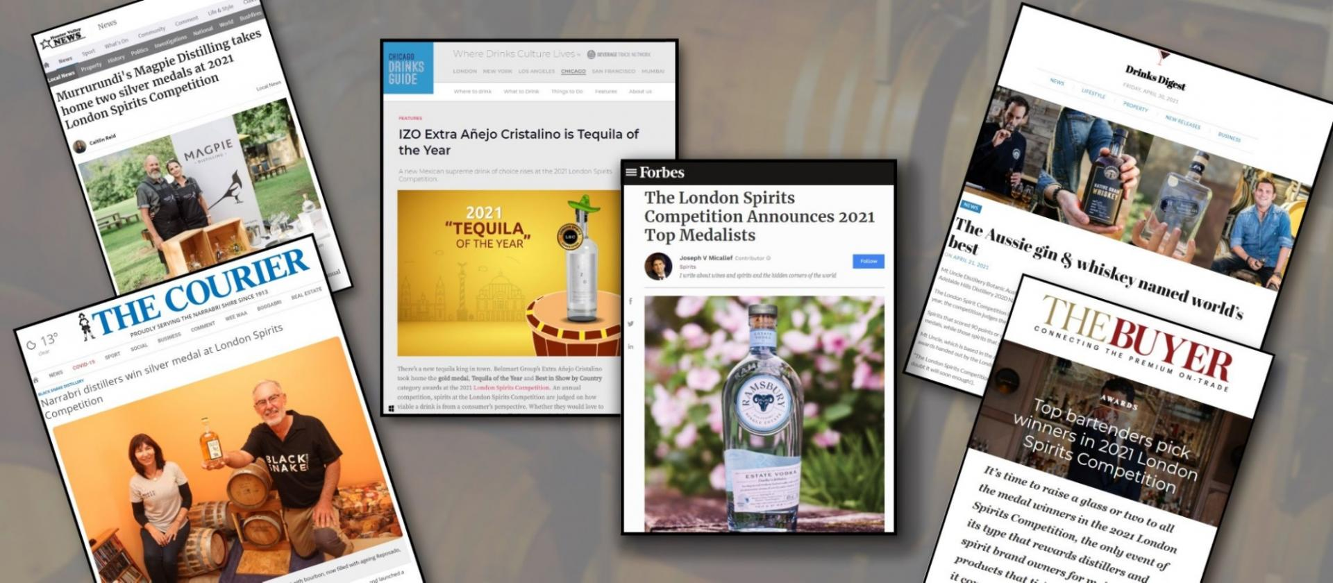 London Spirits Competition 2021 Winners Global Press Coverage