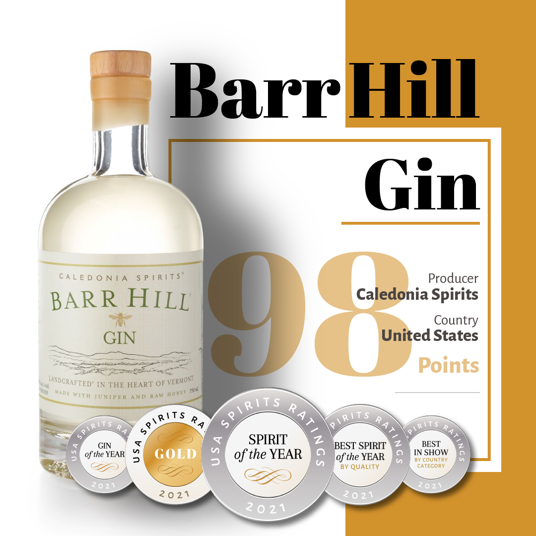 Spirit of the year: Barr Hill Gin, United States
