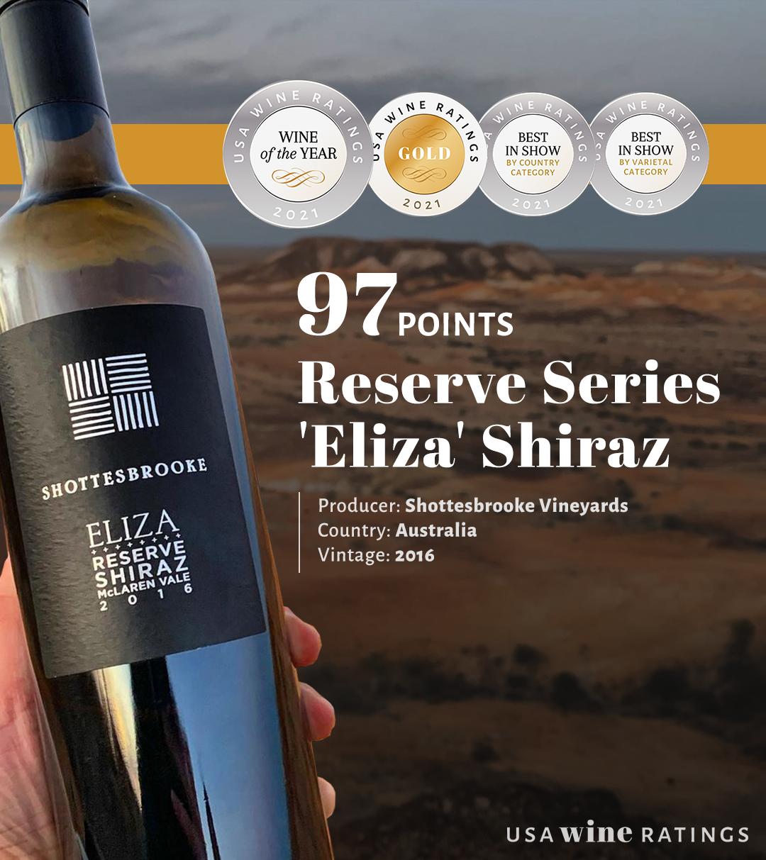 Shottesbrooke Reserve Series 'Eliza' Shiraz