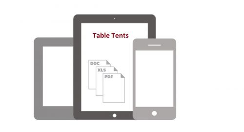 Photo for: Table Tents